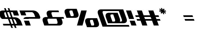 Infinity Formula Leftalic Font OTHER CHARS