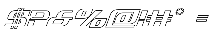 Infinity Formula Outline Italic Font OTHER CHARS