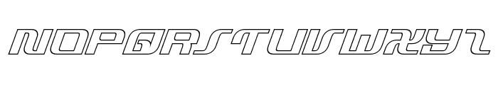 Infinity Formula Outline Italic Font UPPERCASE