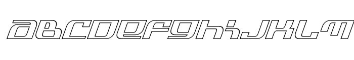 Infinity Formula Outline Italic Font LOWERCASE
