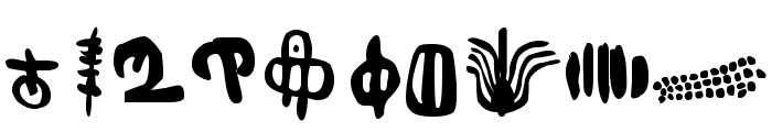 Inga Stone Signs Font OTHER CHARS