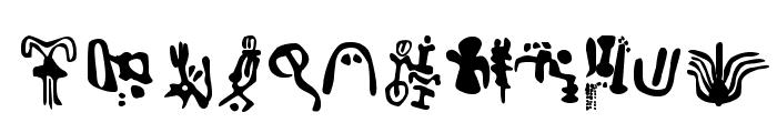 Inga Stone Signs Font UPPERCASE