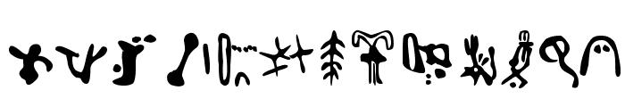 Inga Stone Signs Font LOWERCASE