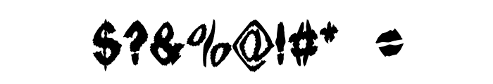 Ingothical Weird Solid Font OTHER CHARS