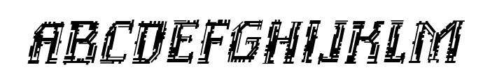 Inhuman BB Italic Font UPPERCASE