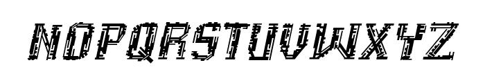 Inhuman BB Italic Font LOWERCASE