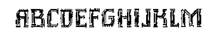 Inhuman BB Font UPPERCASE