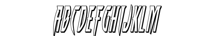 Inhumanity 3D Italic Font LOWERCASE