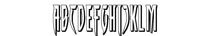 Inhumanity 3D Font UPPERCASE