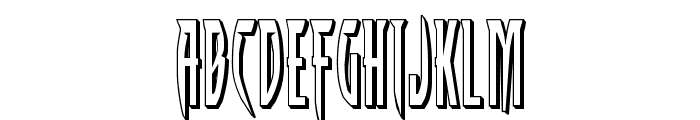 Inhumanity 3D Font LOWERCASE