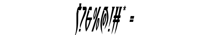 Inhumanity Condensed Italic Font OTHER CHARS