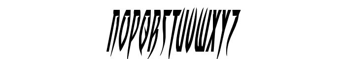 Inhumanity Condensed Italic Font UPPERCASE