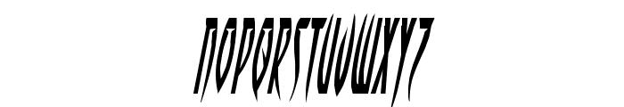 Inhumanity Condensed Italic Font LOWERCASE