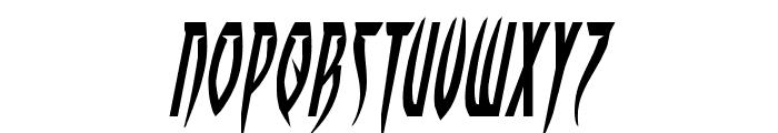 Inhumanity Expanded Italic Font UPPERCASE