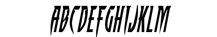 Inhumanity Expanded Italic Font LOWERCASE