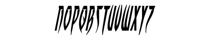 Inhumanity Italic Font UPPERCASE