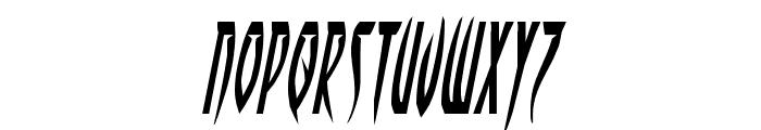 Inhumanity Italic Font LOWERCASE