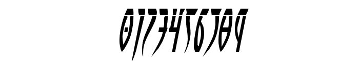 Inhumanity Laser Italic Font OTHER CHARS