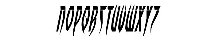Inhumanity Laser Italic Font UPPERCASE