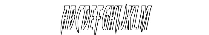 Inhumanity Outline Italic Font LOWERCASE