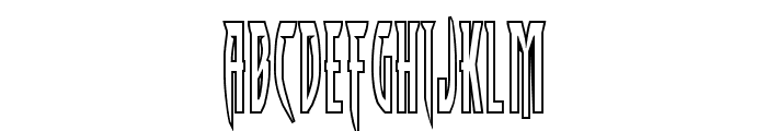 Inhumanity Outline Font LOWERCASE