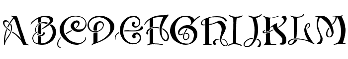 Initials with curls Font UPPERCASE