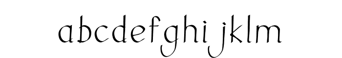 Ink Calligraphic Font LOWERCASE