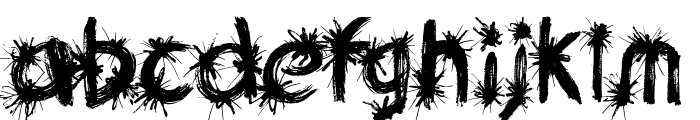 Ink Studio Font LOWERCASE