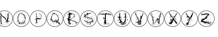 InkAlphabetRRings Font UPPERCASE