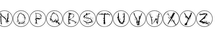 InkAlphabetRRings Font LOWERCASE