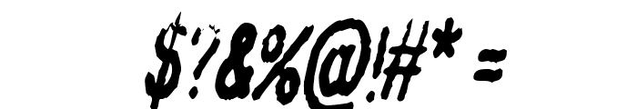 InkbleedCondensed Oblique Font OTHER CHARS