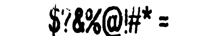 InkbleedCondensed Font OTHER CHARS