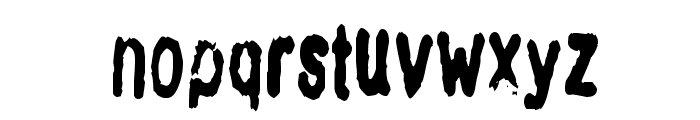 InkbleedCondensed Font LOWERCASE