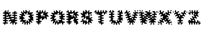 Inkblots Font UPPERCASE