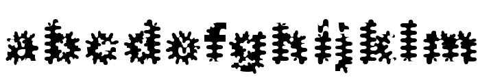 Inkblots Font LOWERCASE