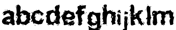 Inked    weird Font LOWERCASE