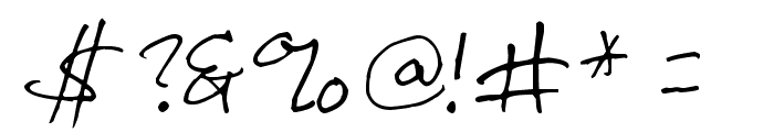 Inkpen Scribble Font OTHER CHARS