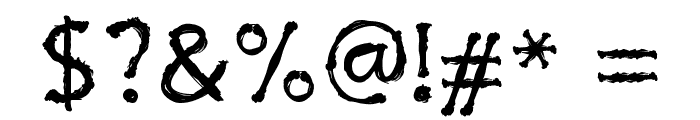 Inky Cre Font OTHER CHARS