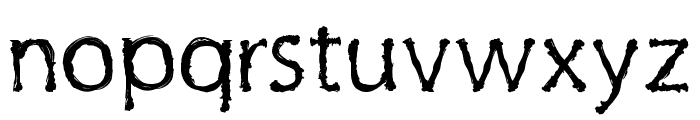 Inky Cre Font LOWERCASE