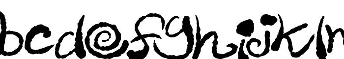 Inky Scrawls Font LOWERCASE