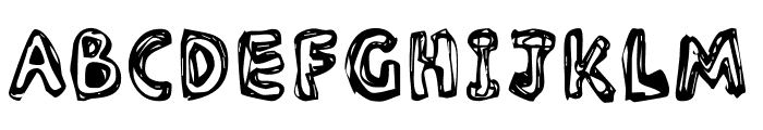 Inlines  Rough Font UPPERCASE