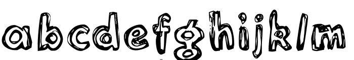 Inlines  Rough Font LOWERCASE
