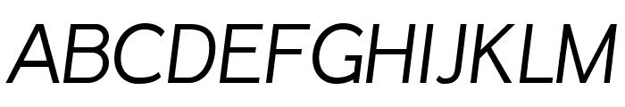 Inprimis free Italic Font UPPERCASE