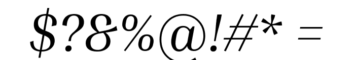 Inria Serif Italic Font OTHER CHARS