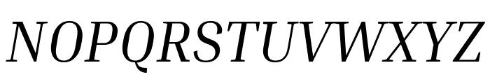 Inria Serif Italic Font UPPERCASE