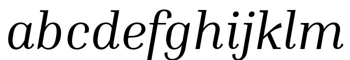 Inria Serif Italic Font LOWERCASE