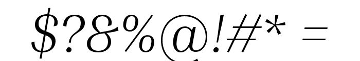 Inria Serif Light Italic Font OTHER CHARS
