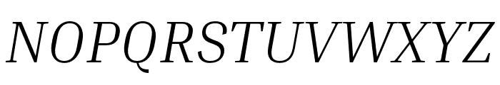Inria Serif Light Italic Font UPPERCASE