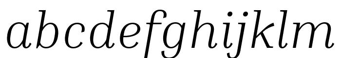 Inria Serif Light Italic Font LOWERCASE