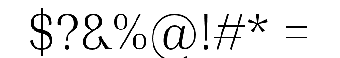 Inria Serif Light Font OTHER CHARS